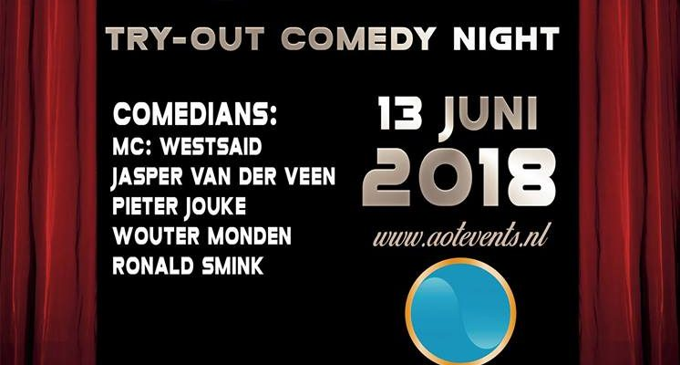(Nederlands) Vier comedians try-outen bij Utrecht Lacht in Hofman Café
